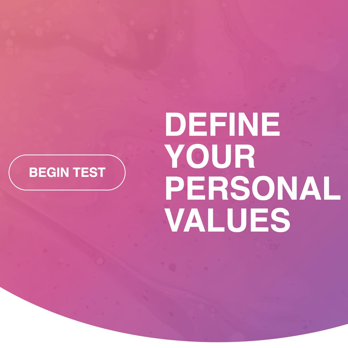 Values top personal Core Values